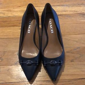 Coach heels for work black